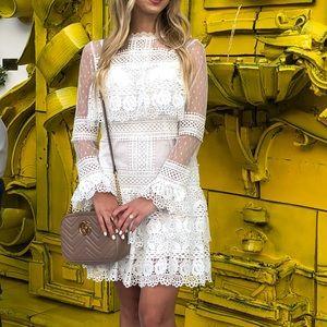 White lace-y dress